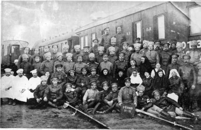 Mennonite medical corps personnel in Russia during the First World War.