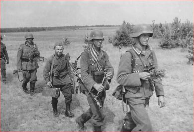 German soldier with Hiwi