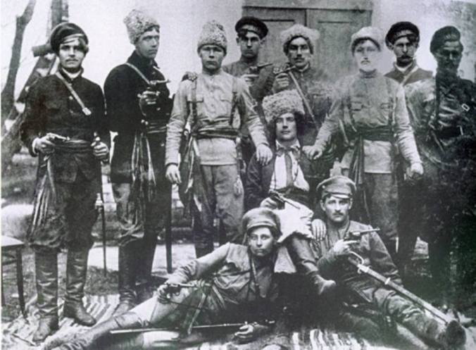 Group of Makhnovists, fyodor Shchuss in the centre