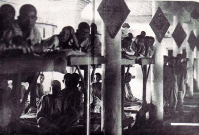 prisoners in barracks