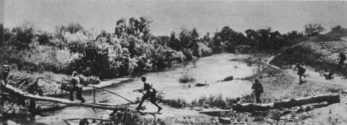 Soviet infantry crossing the Mius 1943