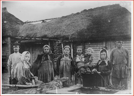 Typical Russian peasant household 1910