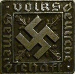 Badge worn by Volksdeutsch, Germans living outside Germany who declared German descent.