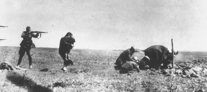 execution of Jews in Kiev, carried out by German soldiers near Ivangorod, Ukraine, sometime in 1942