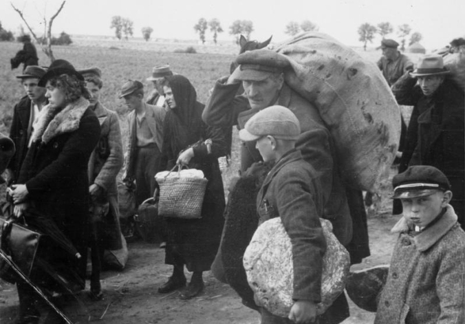 Expulsion of Poles boy with bread