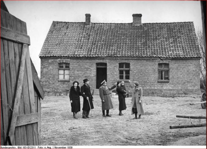 German settlers introduced to their 'new' home