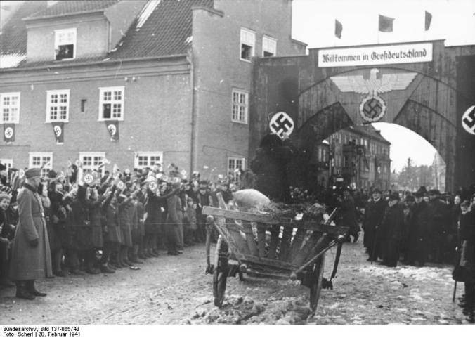 Ostpreußen, Ankunft von Umsiedlern aus Litauen
