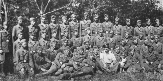 Members of a Mennonite Waffen SS squadron in Ukraine_s Molotschna colony 1943 Credit Harry Loewen, ed Long Road to Freedom Mennonites Escape the Land of Suffering Kitchener, ON Pandora
