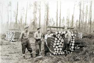 Prisoners of War Stacking Cords of Wood